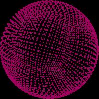 Sphere 3D Maroon